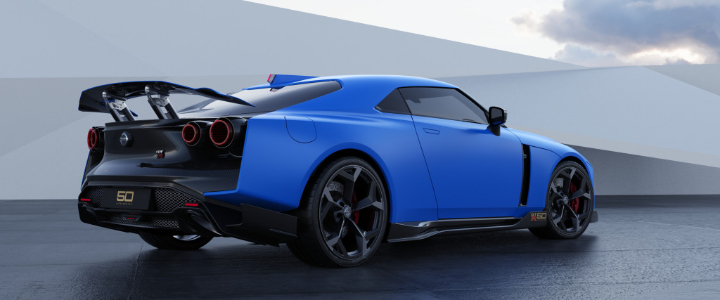 Nissan GT-R50 by Italdesign production rendering Blue RR34