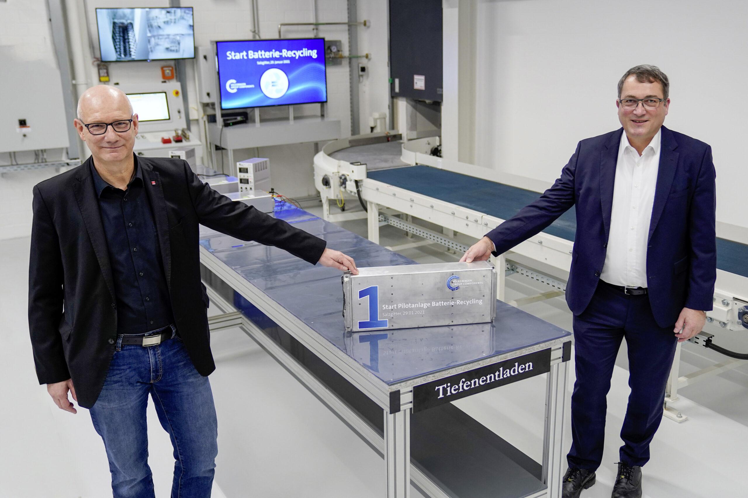Volkswagen: al via il riciclo delle batterie