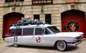 CADILLAC Ambulance Miller-Meteor limo-style endloader combination - Ghostbuster